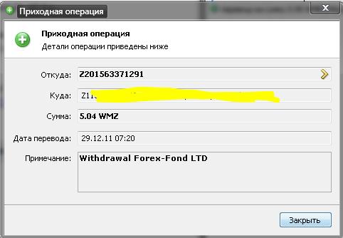 Форекс фонд
